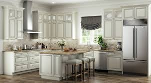 white glazed kitchen cabinets antique white glaze lesso kitchen and bath