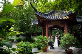 Missouri Botanical Gardens Beautiful Small Wedding In The Garden At The Missouri