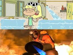 Pyro Meme - pyro reacts to leni flooding meme by loonyartist96 on deviantart