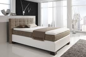 Schlafzimmer Einrichten In Weiss Dreams4home Boxspringbett Manhattan Kt2 Kopfteil Braun Weiß Braun