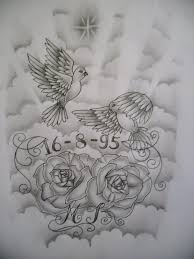 flower and doves tattoo design by tattoosuzette on deviantart