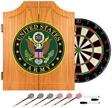 Precision Cabinet Doors by Amazon Com United States Army Wood Dart Cabinet Set Dartboard