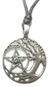 buy druid tree of pewter pendant celtic pagan pentagram