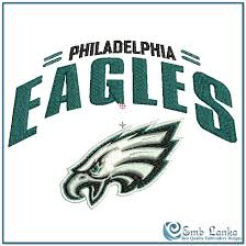 philadelphia eagles logo 2 embroidery design emblanka com