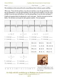 Graphing X And Y Intercepts Worksheet Lf 8 Graphing A Slope Intercept Equation Using Intercepts Mathops