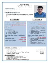 Different Resume Templates Format Different Resume Formats