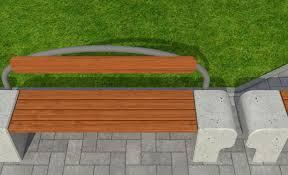 park 3d model park bench cgtrader
