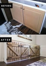 barn door style kitchen cabinets upcycled barnwood style sideboard mountainmodernlife com