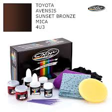 toyota touch up paint toyota avensis sunset bronze mica 4u3