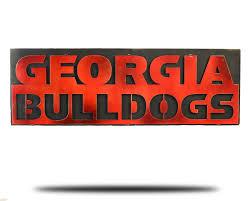 Georgia Bulldog Home Decor by University Of Georgia Bulldogs Vintage Artwork Hex Head Art