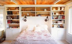 Enclosed Bookcases Clever Furniture Combinations Bookcase Headboards