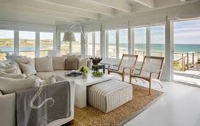 Deck Coffee Table - boston interior design living room beach style with edgartown