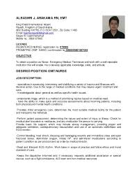Emt Job Description Resume by Bash Resume 2 Copy
