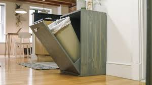 Under Cabinet Pull Out Trash Can Kitchen Under Counter Trash Can Indoor Trash Cans Slide Out