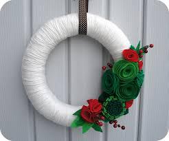 felt wreath yarn wreaths yarn and