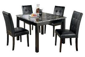 Black And White Dining Room Sets Maysville Dining Room Table And Chairs Set Of 5 Ashley