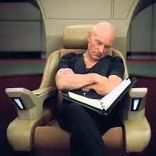 Jean Luc Picard Meme Generator - sleeping picard blank template imgflip