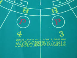 new uncut mgm grand las vegas casino authentic mini baccarat click to enlarge new uncut mgm grand las vegas casino authentic mini baccarat layout table
