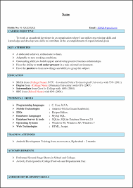Resume Sample University Application by Wonderful Application Developer Resume Examples With Java