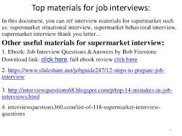 top 36 supermarket interview questions with answers pdf