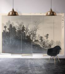 asian japanese replica ink painting mural milton king mt tsukuba mist wall mural from the erstwhile collection