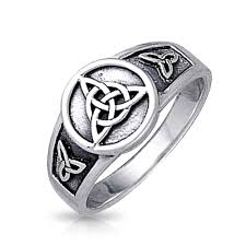 celtic rings with images Sterling silver triquetra celtic knot ring jpg
