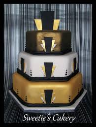 my gold black and white art deco design wedding cake find me on