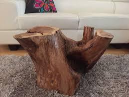 coffee table awesome log side table teak tree stump table stump
