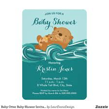 Invitations And Cards Baby Otter Baby Shower Invitation Baby Shower Invitations Birth