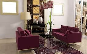 Living Room With Purple Sofa Interior Modern Style Living Room Ideas With Purple Sofa And