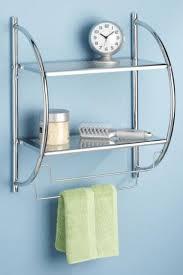 Bathroom Wall Cabinet With Towel Bar Shelves And Towel Rack Towels Racks Bathroom Organization Bathroom