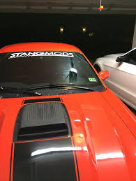 mustang windshield decal stangmods winshield decal stangmods