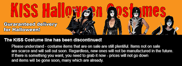 Halloween Costume Sale Halloween Costumes Kiss Museum