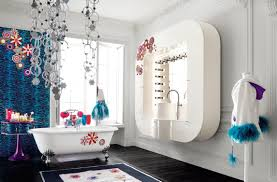 charming small kids bathroom design ideas with white and red