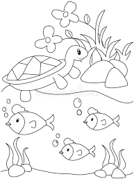 turtle fish coloring stock illustration image 50166154