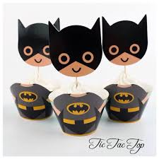 batman big head special edition cupcake wrappers toppers