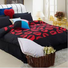 free shipping buy best red lips bedding set 4pcs duvet quilt