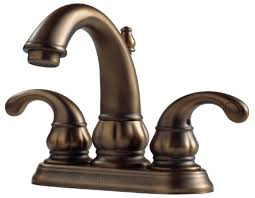 Pfister F048dv00 Treviso 2 Handle 4 Inch Centerset Bathroom Faucet Antique Brass Bathroom Fixtures