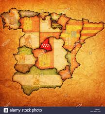 Spain Regions Map by Map Madrid Region Spain Stock Photos U0026 Map Madrid Region Spain