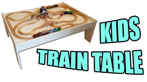 how to make a kids train table play table youtube