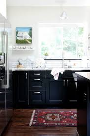 Kitchen Cabinet Uppers Charming Black Lower And White Upper Kitchen Cabinets 85 Black