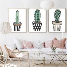Nordic Decoration Home by Online Get Cheap Cactus Wall Decor Aliexpress Com Alibaba Group
