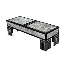 james mont ebonized coffee table with mottled glass 1940s u2014 lobel