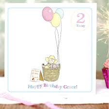 personalised birthday balloons personalised girl s birthday balloons card hardtofind