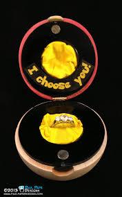 pokeball engagement ring paul pape designs pokémon poké custom engagement ring box