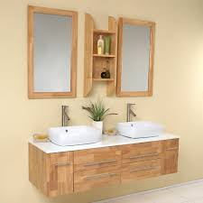 Fresca Bath FVNNW Bellezza Double Vanity Sink Natural Wood - Bathroom vanities double vessel sink