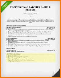 Construction Laborer Resume Examples by Laborer Resume Skills Construction Resumes Laborerconstruction