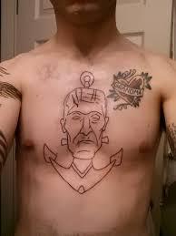 outline anchor on chest tattooshunt com