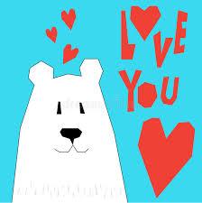 abstract cartoon funny bear love theme valentine s day or wedd