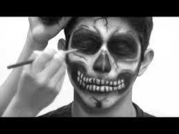 imagenes de calaveras hombres maquillaje de calavera youtube halloween y la ruta de la luna